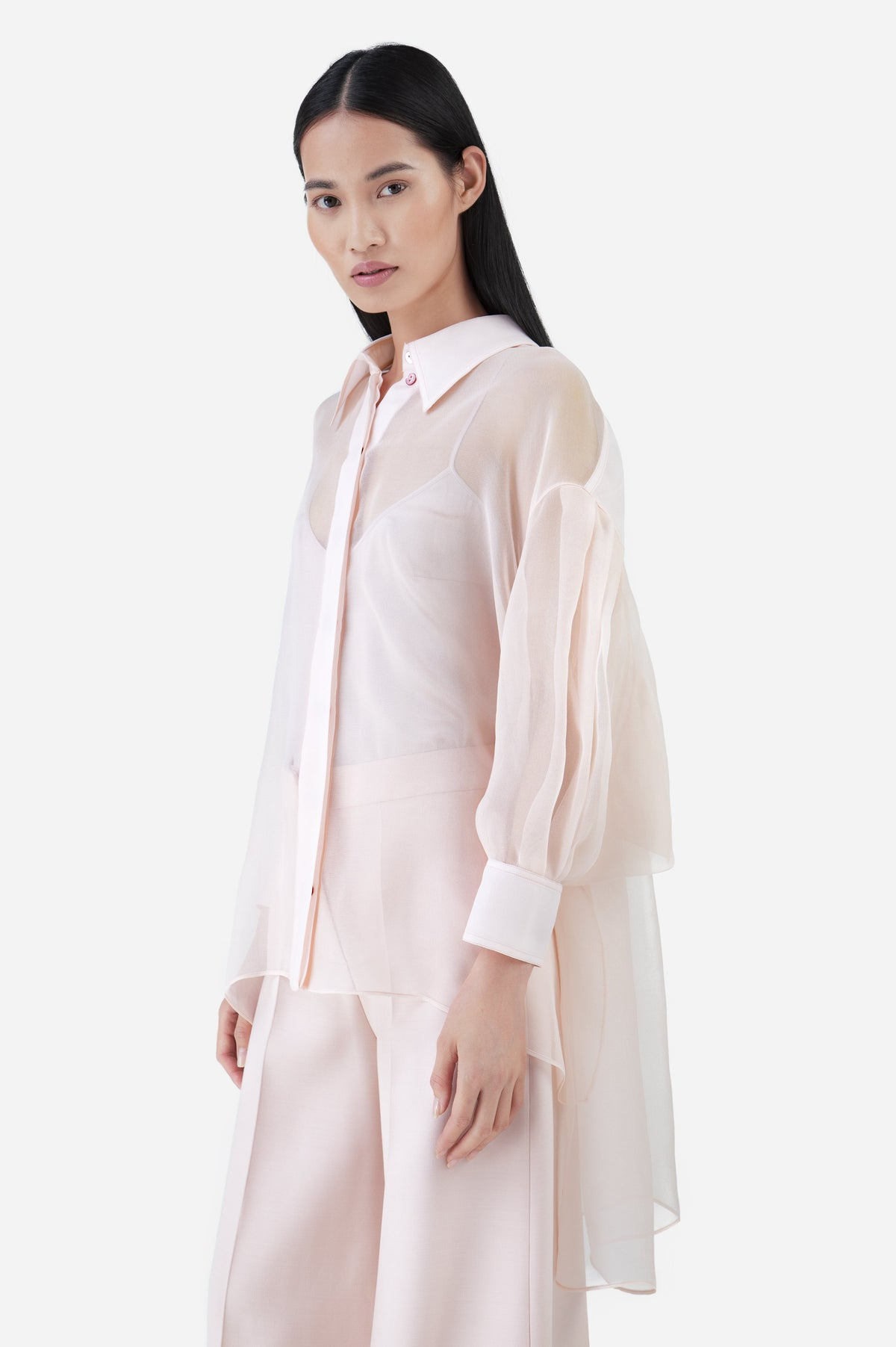 Pink Light Silk Gaza Blouse